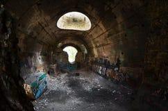 stalin stary tunel kreskowy Kiev betonowy obrończy malorussia wymieniał część podwodny czas dzisiaj Ukraine ww2 Fotografia Stock