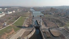 stalingrad Canal de env?o de Volga-Don 1ra entrada del arco ?Gloria a gran Lenin ? almacen de video