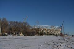 Stalingrad, edificio del estadio Fotografía de archivo libre de regalías