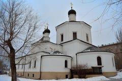 Stalingrad, iglesia del invierno Foto de archivo libre de regalías