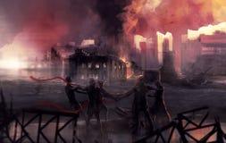 Stalingrad-Kriegskampf-Statuenkunst Stockbild
