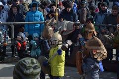 Stalingrad, Maslenitsa 2017 Fotos de archivo libres de regalías