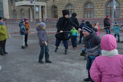 Stalingrad, Maslenitsa 2017 Foto de archivo libre de regalías
