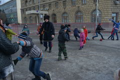 Stalingrad, Maslenitsa 2017 Fotos de archivo