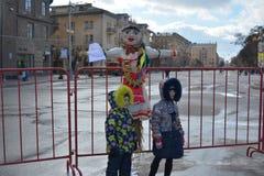 Stalingrad, Maslenitsa 2017 Fotografía de archivo libre de regalías