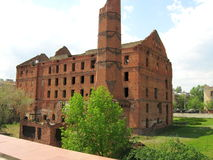Stalingrad mill. The Museum of the Stalingrad battle panorama Stock Photo