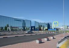 STALINGRAD, RUSIA - 28 DE MAYO DE 2018: Aeropuerto internacional de Gumrak fotografía de archivo