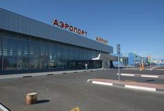 STALINGRAD, RUSIA - 28 DE MAYO DE 2018: Aeropuerto internacional de Gumrak foto de archivo libre de regalías