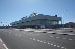 STALINGRAD, RUSIA - 28 DE MAYO DE 2018: Aeropuerto internacional de Gumrak imágenes de archivo libres de regalías