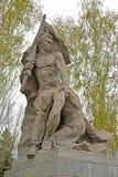 Stalingrad, Rusia El ` escultural del abanderado del ` de la composición en los héroes ajusta Mamayev kurgan Fotografía de archivo libre de regalías