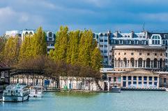Stalingrad waterfront paris city France Royalty Free Stock Image