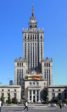 The stalinian architecture styled building in Warsaw Stock Photography