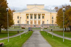 Stalinist architecture. Kohtla-Järve Culture Centre in Estonia - perfect example of stalinist architecture Royalty Free Stock Photos
