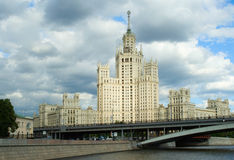 stalinist byggande hög stigning Royaltyfri Fotografi