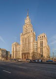 Stalinist skyscraper at Red Gate. Royalty Free Stock Photo