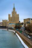 Stalinskie Vysotki i Moskva Royaltyfria Bilder