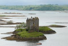 Stalker Castle in Scotland royalty free stock images