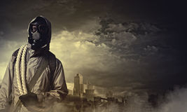 Stalker in gas mask Stock Photo