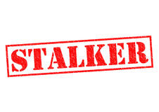 STALKER. Red Rubber Stamp over a white background Royalty Free Stock Photography