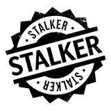 Stalker rubber stamp Stock Photo