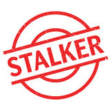 Stalker rubber stamp Royalty Free Stock Photo