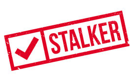 Stalker rubber stamp Royalty Free Stock Image