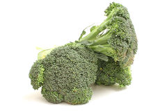 Stalkes of broccoli. Isolated photo of stalkes of broccoli on white Royalty Free Stock Photo