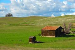 Stall auf einem grasartigen Hügel Lizenzfreie Stockfotografie