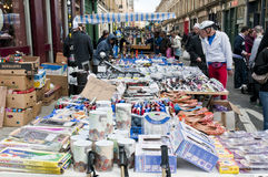 Stall in Bricklane market Royalty Free Stock Image