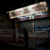 Stall at Brisbane Ekka. Cleaner outside food stall at Brisbane Royal National Show the Ekka Stock Image