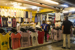 Stall with casual clothing in Hua Hin night market, Thailand Royalty Free Stock Photography