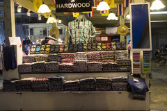 Stall with casual clothing in Hua Hin night market, Thailand Royalty Free Stock Photo