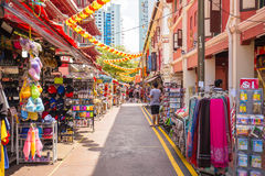 The Stall in China Town, Singapore Stock Images