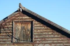 Stall-Dachboden u. Seilrolle lizenzfreies stockfoto