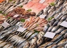 Stall der rohen Fische Stockfoto