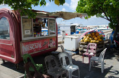 Stall at docks area at Male Royalty Free Stock Photo