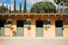 Stall för hästar Royaltyfri Fotografi