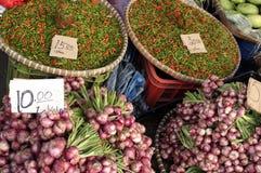 stall för ny marknad för chilir Royaltyfri Foto