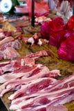 stall för ny meat Arkivbilder