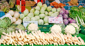 Stall with fresh vegetables Royalty Free Stock Photography