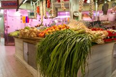Vegetables at the Market stall stock image