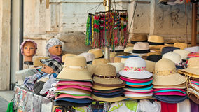 Stall of hats Royalty Free Stock Photos