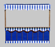 Stall In Blue And White Royalty Free Stock Image