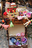A stall. Items for sale in a traditional market of Turin Royalty Free Stock Photos