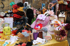 A stall. Ites for sale in a traditional market in Turin Stock Photos