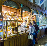 Stall in the Kraków Cloth Hall Sukiennice Royalty Free Stock Photos