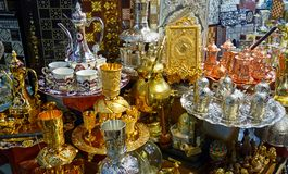 Stall with religious souvenirs royalty free stock photo