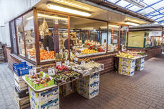 Stall at the market Stary Kleparz in Krakow Stock Images