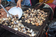 Stall with mussels Royalty Free Stock Images