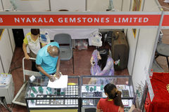 Stall of nyakala gemstones limited Royalty Free Stock Photography